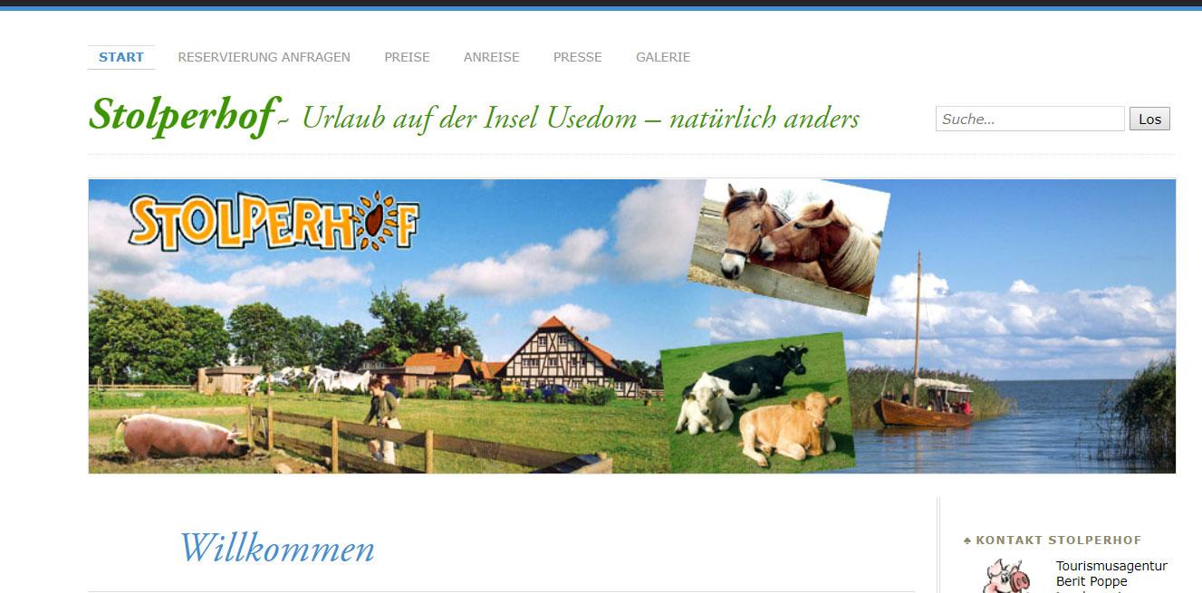 Bauernhof Insel Usedom mit Hund