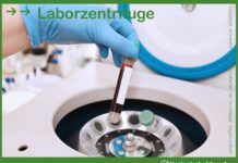 Zentrifuge im Labor, Veterinärlabor - zentrifugieren von Blut um Blutserum zu erhalten