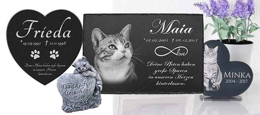 Gedenksteine für Katzen mit Gravur