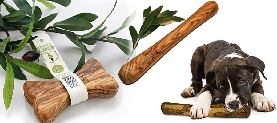 Olivenholz Knochen Hunde